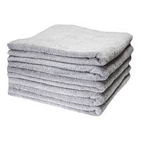 """Набор махровых банных полотенец для отеля Lotus """"Basic"""" серый 70х140 см 5 шт (svk-4317)"""