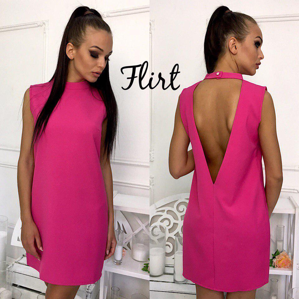 ba05fbcecef Платье модное мини с глубоким вырезом на спине разные цвета Smfl2325 ...