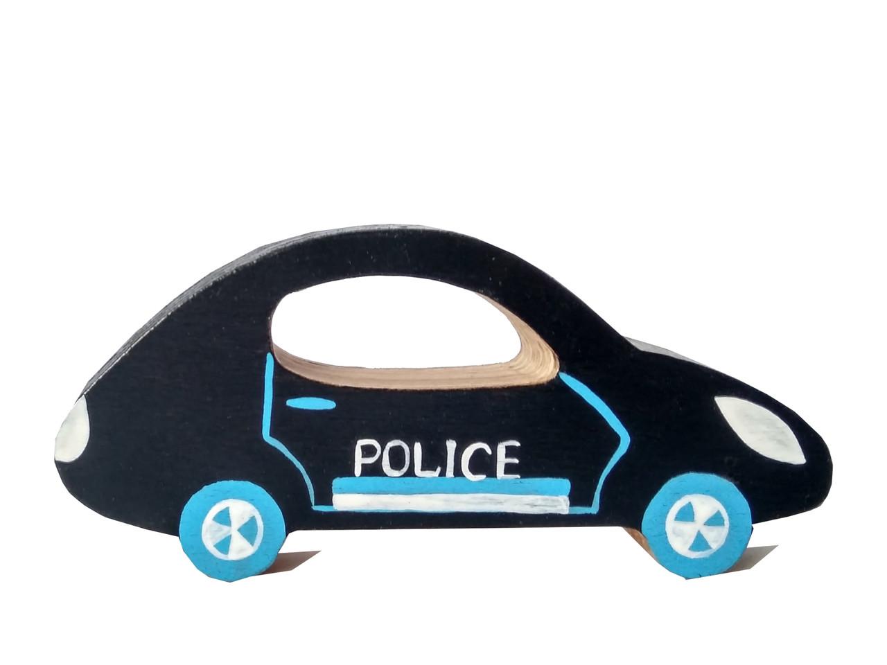"""Машинка дерев'яна Hega """"Поліція"""" (132)"""