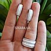 Серебряное кольцо белая керамика и фианиты, фото 5