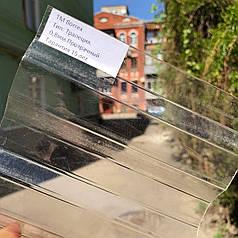 Прозрачный профилированный  поликарбонат 1,05*2м