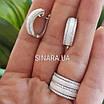 Серебряное кольцо белая керамика и фианиты, фото 6