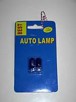 Лампочка без цок.Т10 стекло синяя BEST blue