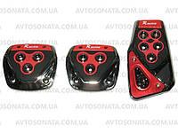 Накладки на педали 375 Red/chrome  , фото 1