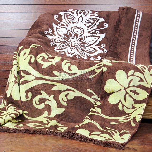 """Плед Lotus """"Saray"""" 200х220 см коричневый (svk-2000008485180)"""
