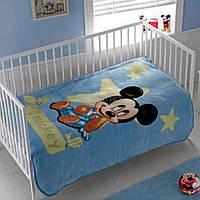 """Плед-покрывало детское TAC """"Disney Mickey Baby 2009"""" 110х140 см синие (svk-1079)"""