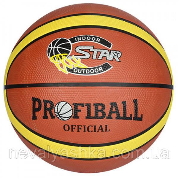 Мяч баскетбольный 580-600 гр, 12 панелей, резина, размер 7, EV 8801-1, 007974