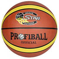 Мяч баскетбольный 580-600 гр, 12 панелей, резина, размер 7, EV 8801-1, 007974, фото 1