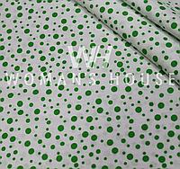 Рубашечная ткань коттон принт горошек Салатовый