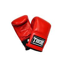 Перчатки снарядные кожа THOR 606 (Leather) RED