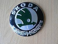 Эмблема z Skoda 88мм наклейка на авто скотче без направляющих кузовная наружная Шкода Уценка смещен рисунок