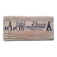 """Полотенце для рук и лица Cestepe """"Paris"""" 50х90 см кофейное (svk-3179)"""