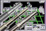 винт ходовой фрезерных станков моделей 6Р12, 6Р13, ВМ 127, 6Р82, 6Р83, 6М13П, 6М12, 6М82, фото 4