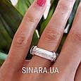 Кольцо с керамикой и цирконием серебро 925, фото 7