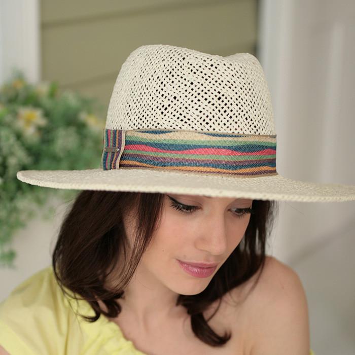 Широкополая шляпа из натуральной соломки  поля 10 см
