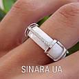 Кольцо с керамикой и цирконием серебро 925, фото 2