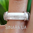Кольцо с керамикой и цирконием серебро 925, фото 5