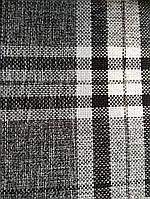 Рогожка клетка мебельная ткань ширина ткани 150 см сублимация 3027-серый, фото 1