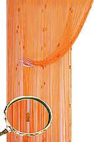 Кисея шторы нити Галактика № 03 (оранжевый)