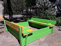 Песочница с крышкой (трансформер) 1м*1м, фото 1