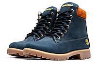 Зимние ботинки Timberland 6 inch, темно-синий (3834-3),  [  36 (последняя пара)  ]