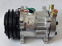 Компрессор кондиционера универсальный, аналог SANDEN, 7Н15, А2,  24V, АCTECmax