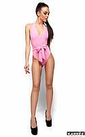 Женственный розовый сдельный купальник Монблан