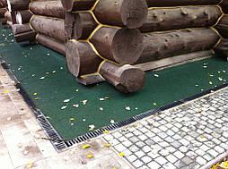 Укладка резинового покрытия отмостках вокруг кафе г.Харьков 3