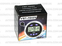 Часы 7042V +термометр внут/наруж/подсветк/вольтметр