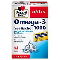 Doppelherz aktiv Omega-3 Seefischöl 1000 - Рыбий жир Омега-3 1000 мг, 1х80