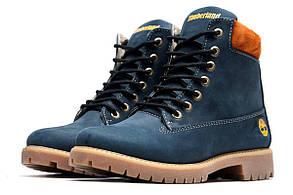 Ботинки женские Timberland 6 inch, темно-синие (3834-3),  [  36 37  ] (реплика)