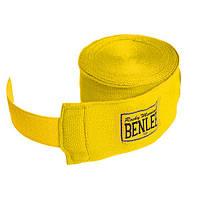 Бинты боксерские 300 см. BENLEE Handwraps эластичные / желтого цвета / хлопок