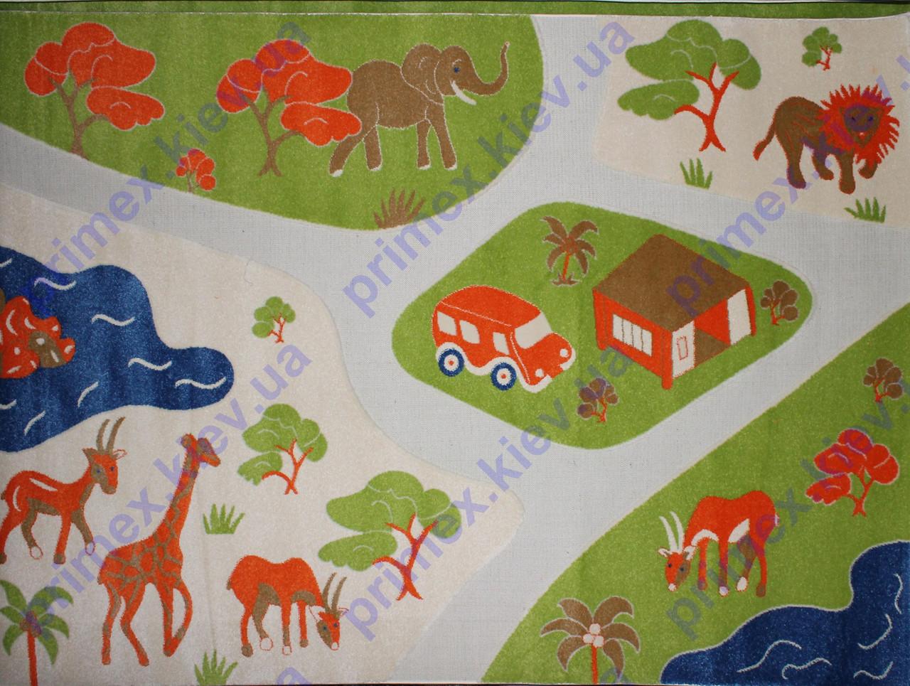 """Ковер для детской комнаты """"Дорога в Африке"""". Купить ковер дорога"""