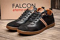 Туфли мужские   Falcon Paul Parker Jeans, черные (2874),  [  40 42  ] (реплика), фото 1