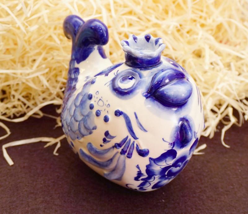 Фигурка Рыба-Царевна из керамики