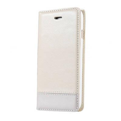 Чехол книжка на iPhone 6/6s экокожа с накладкой из плотного силикона, белый