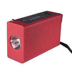 Фонарь с динамо Haoyi HY-018 Красный с USB FM AM радио