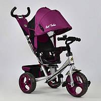 Велосипед 3-х колёс. 5700 - 4450 /ФИОЛЕТОВЫЙ/ Best Trike (1) ПОВОРОТНОЕ СИДЕНЬЕ, КОЛЕСА EVA (ПЕНА) переднее колесо d=28см. задние d=24см