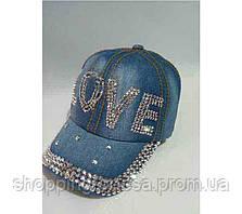 Женская кепка джинсовая «Love»