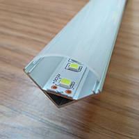 Алюминиевый профиль для светодиодной ленты угловой с рассеивателем LED-06, фото 1