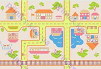 """Ковер для детской комнаты """"Железная дорога"""". Купить ковер дорога"""