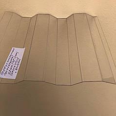 Прозрачный профилированный  поликарбонат 1,05*4м