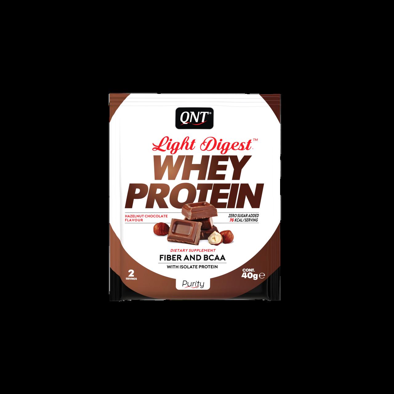 QNT_Light Digest Whey Protein 500 г - Nut/Chocolate