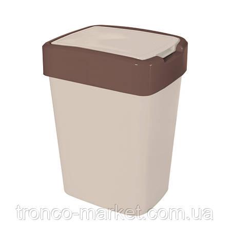 "Ведро для мусора ""Евро"" двухцветное -18л, фото 2"