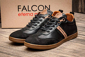 Туфли мужские Falcon Paul Parker Jeans, черные (2874),  [  40 42  ] (реплика)