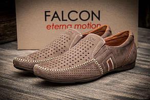 Мокасины мужские Falcon, бежевые (2947-1),  [  40 41 42 45  ] (реплика)