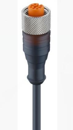 """Разъем M12 """"мама"""", 5 pin, прямой, с кабелем 2 м"""