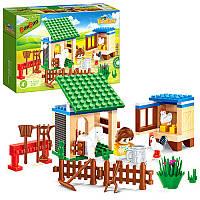 Конструктор BANBAO 8585 ферма, фигурка,  животные, 115 деталей, в коробке23-15-5 см