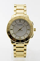 Женские золотистые наручные часы Pandora с белым циферблатом ( код: IBW095Y ), фото 1