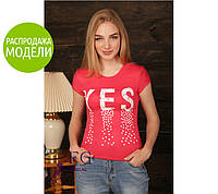 "Женская футболка ""Yes"" - распродажа, фото 1"
